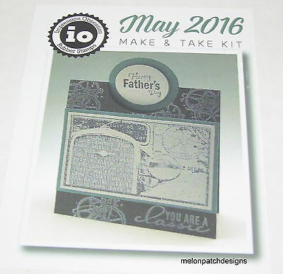 NEW Impression Obsession Rubber Stamps 2016 Make & Take Kit HAPPY FATHER'S DAY