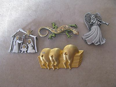 VTG or New Costume Jewelry J.J Brooch Lot  Must see