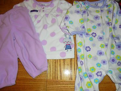 Great Baby Girl's Size 6-9 Month -Sleeper & Adorable Outfit in Pretty Purple