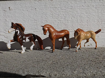 Breyer stablemates lot of 3 G3, friesian, thoroughbred , stock stallion