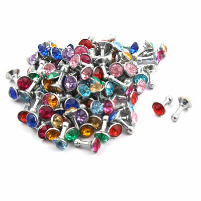 Cell Phone Rhinestone Earphone Anti-dust Plug Stopper Assorted Color 100pcs