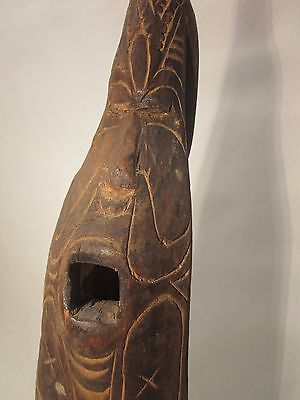 Early Authentic Tribal Crocodile Head Canoe Prow, Sepik River, New Guinea,