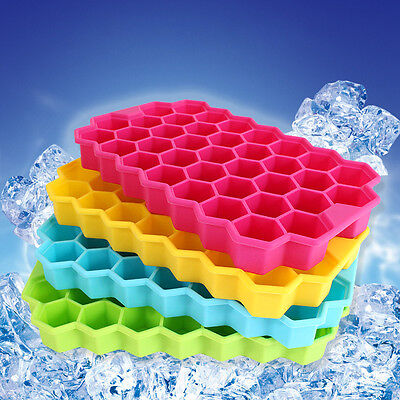 Large Ice Cube Tray Pudding Jelly Maker Mold Honeycomb Square Mould Silicone DIY
