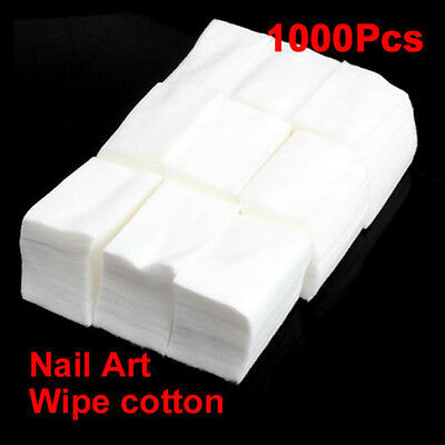 1000pcs UV Gel Nail Polish Remover Wraps Cotton Cleaner Wipes Pads Lint Free