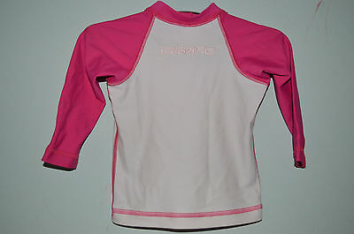 TRIBORD DECATHLON =  T-shirt maillot anti-uv rose 12 mois ORL