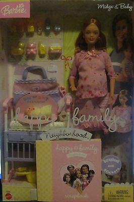 Barbie Happy Family Pregnant Midge & Baby Rare PINK Outft 2003