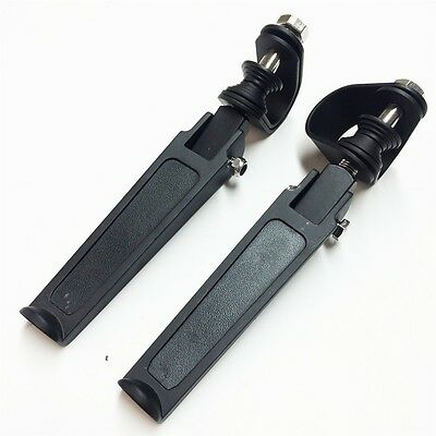 """E. 1 1/4"""" Rubber Inlay Footpegs For Harley Bad Boy Fxstsb Fxs Dyna Fxdwg2  Black"""