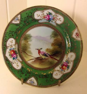 Rare 1920s Antique Noritake Hand Painted Plate Bird of Paradise~Gold Gilt~Floral