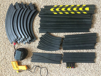 Tyco Electric Slot Race Track Set lot 23 pieces