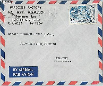 59008 - SYRIA  - POSTAL HISTORY:  AIRMAIL  COVER to  GERMANY