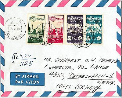 59013  - SYRIA  - POSTAL HISTORY:  1955 ROTARY  set on COVER to GERMANY  1980