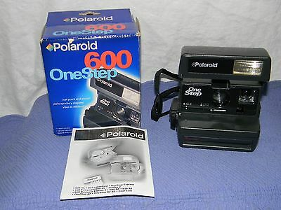 Working POLAROID ONE STEP 600 Instant Film Camera with original box