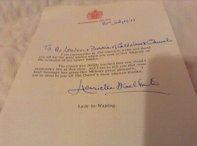 Letter From Buckingham Palace To A Brownie Pack Leader