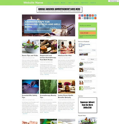 AROMATHERAPY SHOP - Professionally Designed Affiliate Website For Sale + Domain
