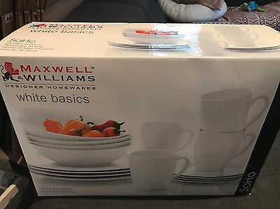 NEW Maxwell & Williams White Basics Porcelain 16-Piece Dinner Set! Pick Up Only