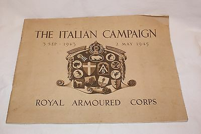 'The Italian Campaign' Royal Armoured Corps 1943-1945 Military interest