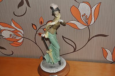 Capodimonte by A Belcari figurine of lady with parasol