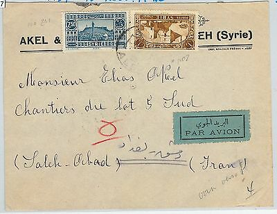 59027  - SYRIA  - POSTAL HISTORY:  AIRMAIL  COVER to  PERSIA ! 1937