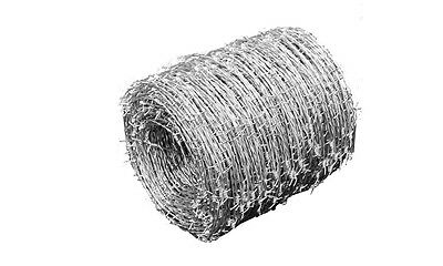 #sBARBED WIRE ROLL 500M HIGH TENSILE HEAVY DUTY WIRE WIDTH 1.6MM GARDEN FENCE