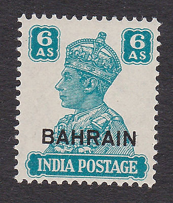 Bahrain 1942  6 anna  turquoise  S.G. 48 mint hinged