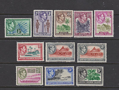 British Honduras 1938  part set of 11  mint hinged