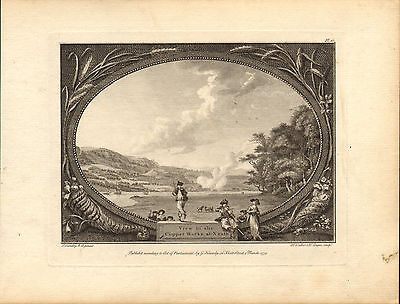 view of the copper works at neath ! 1779  engraving ! scarce view !