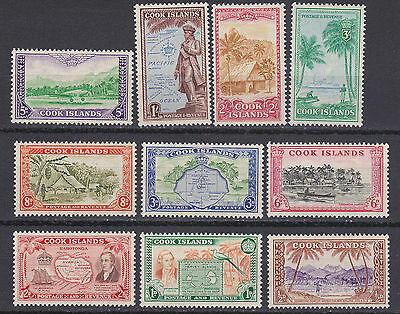 Cook Islands 1945 set of 10 S.G.150/9  mint hinged