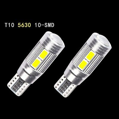 10x T10 501 194 W5W 5630 LED 10 SMD Car Canbus Error Free Wedge Light Bulb Lamp