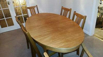 sutcliffe oak dinning table and chairs