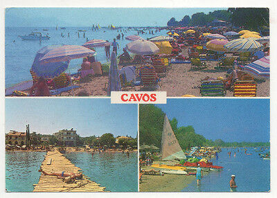 POSTCARD FROM Cavos Kavos Greece Greek posted 1987 Beach Scenes