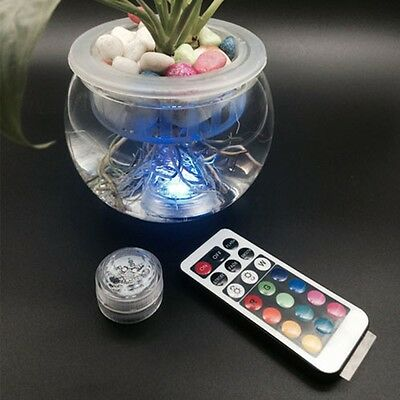 RGB Party Decor Aquarium For Wedding Diving Lamp Candle Light Waterproof LED