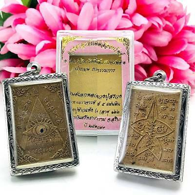 9289 Thai Amulet Talisman Pyramid All Seeing Eye Seek Luck Money Windfall Suang