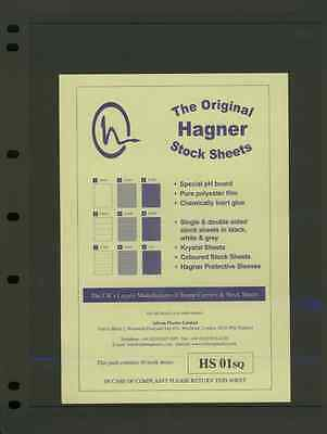 Hagner Single Sided Stamp Album Stock Pages