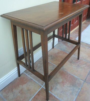 Edwardian inlaid side table, side lamp console