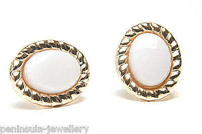 9ct Gold Opal Studs earrings Made in UK Gift Boxed