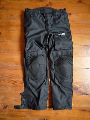 Weise Black Textile Padded Motorbike Trousers