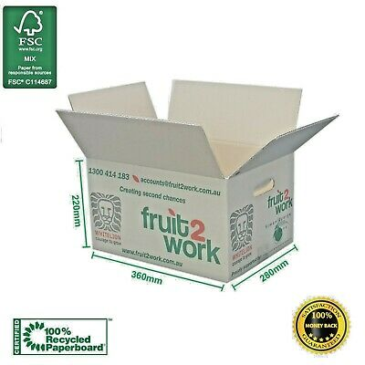 20 x Moving Boxes Cardboard Medium Removalist Packing Cartons- Strong & Compact