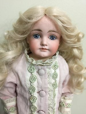 """Antique Doll Bisque Kestner Closed Mouth On A kid Body 19"""""""