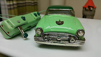 Vintage Japan tinplate battery operated Buick Special Electromobile Remote Car