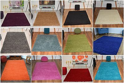 Modern Small X Large Shaggy Area Rugs Mat 5cm Thick Soft Pile Mats Carpet Rug