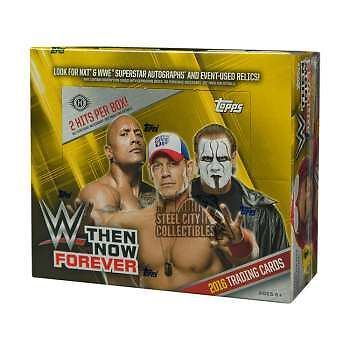 2016 Topps WWE Then Now Forever sealed Box - 24 Booster Trading Card Packs