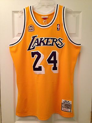 buy online aa4bf c289c NWT MITCHELL & Ness Kobe Bryant Rookie Jersey 48 X-Large Los Angeles Lakers