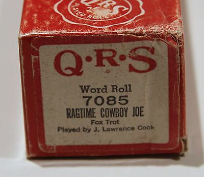 QRS Pianola Roll Ragtime Cowboy Joe 7085