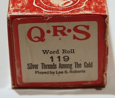 QRS Pianola Roll Silver Threads Among the Gold 119