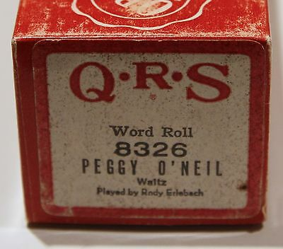 QRS Pianola Roll Peggy O'Neil 8326