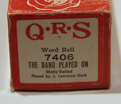 QRS Pianola Roll The Band Played On 7406