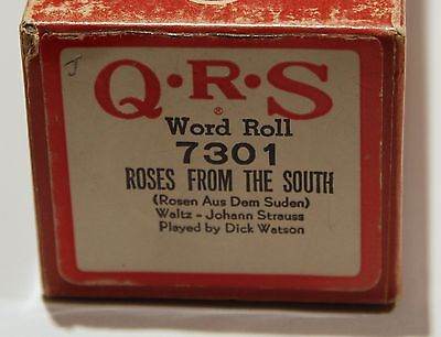 QRS Pianola Roll Roses from the South 7301