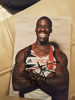 GB Athlete Dwain Chambers Hand Signed Autograph