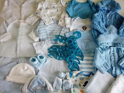 Large Bundle Baby Boys Clothes 0-3 Months VGC M&S HAND KNITTED ++ Next Day Post