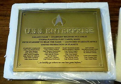 Star Trek - The Official Starships Collection DEDICATION PLAQUE